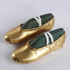 Kvinner Lær Flate sko Ballett Mage Dansesko (053111519)