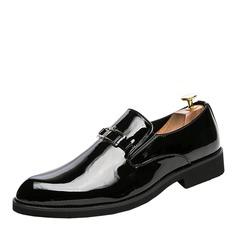 Мужская лакированная кожа Лошадь Мокасины вскользь Men's Loafers (260176576)
