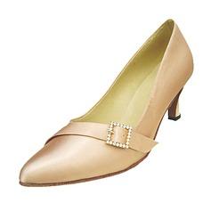 De mujer Satén Tacones Salón Sala de Baile con Rhinestone Hebilla Zapatos de danza (053013165)