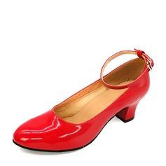 Mulheres Couro Saltos Salão de Baile Treino Sapatos de dança (053143462)