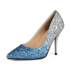 Espumante Glitter Salto agulha Bombas Fechados sapatos (085060003)