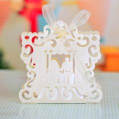 De & bruidegom bruid Bedank Doosjes met Linten (Set van 12) (050043251)