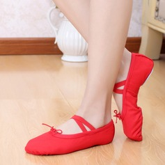 Mulheres Lona Sem salto Balé Sapatos de dança (053104784)