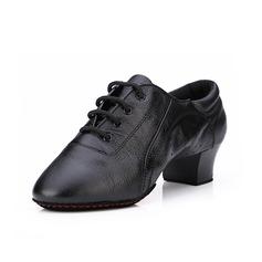 Женщины кожа На каблуках На каблуках Практика с Шнуровка Обувь для танцев (053052424)
