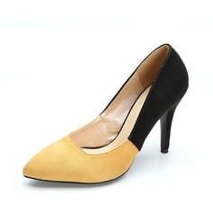 Женщины Замша Высокий тонкий каблук На каблуках Закрытый мыс обувь (085085026)