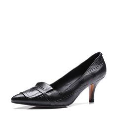 Frauen Echtleder Stöckel Absatz Absatzschuhe Geschlossene Zehe mit Andere Schuhe (085146823)