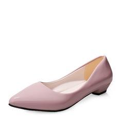 Женщины кожа Низкий каблук Закрытый мыс обувь (085150516)