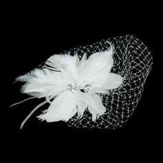 великолепный перо/Тюль Цветы и перья с горный хрусталь (042026526)