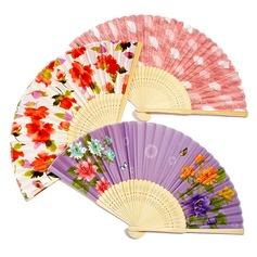 Design floral Bambu/Seda Ventilador de mão (Conjunto de 4) (051040468)