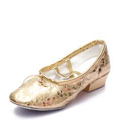 Kvinner Lær Flate sko Ballett Mage Dansesko (053126008)