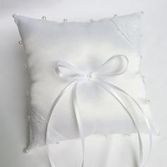 Классический Кольцо подушки в Ткань с Лук/Перлы ложный/Кружева (103151824)