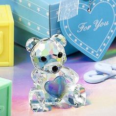 Teddybjörn Kristall Minnessak med Färgband (051050522)