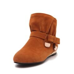ante Tacón plano Botas al tobillo con Del bowknot zapatos (088055056)