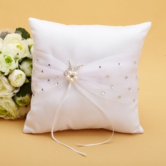 Elegant Ring Pillow in Satin With Ribbons/Rhinestones/Faux Pearl (103038627)