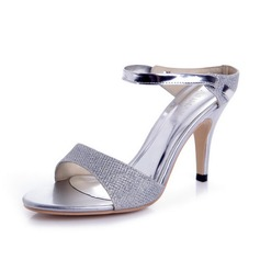Women's Sparkling Glitter Cone Heel Sandals Pumps Slingbacks shoes (087039892)