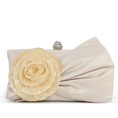 великолепный Щелк/кружева с цветы/горный хрусталь Клатчи (012028254)