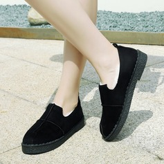 Women's Suede Flat Heel Flats Closed Toe With Others shoes (086145724)
