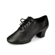 Mulheres Couro Saltos Bombas Treino Sapatos de dança (053058461)