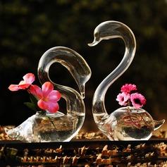 Elegante Cisne Vidro Vaso (Conjunto de 2) (128035821)