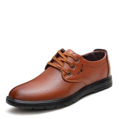 Homens Microfibra Couro Aplicação de renda Sapatos De Vestido Trabalhos Oxfords Masculinos (259173802)