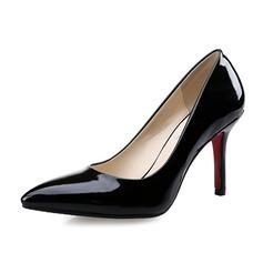 Женщины кожа Высокий тонкий каблук На каблуках Закрытый мыс обувь (085070500)