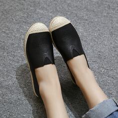 Женщины PU Плоский каблук На плокой подошве Закрытый мыс с Эластичный бинт обувь (086145789)