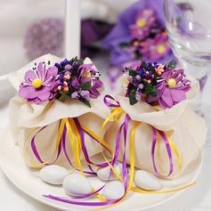 Mooie Bloemen Thema Bedank Tassen met Bloemen/Linten (Set van 12) (050046722)