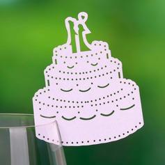 Bryllupskage Perle-papir Bordkort (sæt af 12) (131037413)