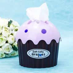 Cupcake Design Plástico rígido Caixa de Lenços (051024868)