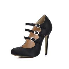 zijde als satijn Stiletto Heel Pumps Closed Toe met Gesp schoenen (085022625)