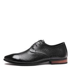 Hommes Vrai Cuir Dentelle Chaussures habillées Travail Chaussures Oxford pour hommes (259173766)