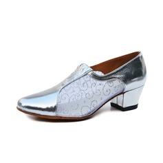 Женщины кожа На каблуках Сандалии Практика Обувь для танцев (053077302)