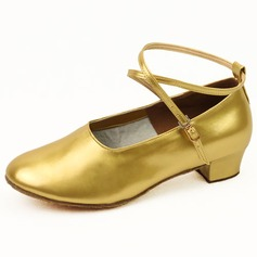Women's Kids' Patent Leather Flats Ballroom With Ankle Strap Dance Shoes (053024971)