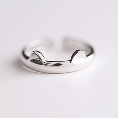 s925 Silver Unieke Alloy Cat Ear Women's Fashion Rings Geschenken (129140484)