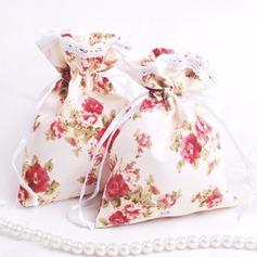 Tema Floral Bonito Bolsas de Ofertas com Fitas (conjunto de 12) (050046714)