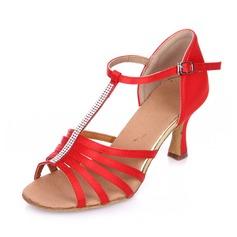 Femmes Satiné Talons Sandales Escarpins Latin avec Strass Chaussures de danse (053063330)