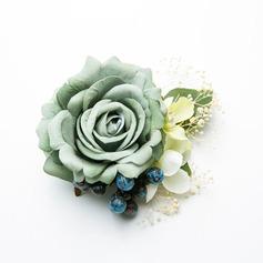 Дамы Специальный шелковые цветы Комбс и заколки (042205940)