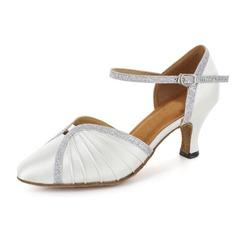 Женщины Атлас Мерцающая отделка На каблуках На каблуках Бальные танцы Обувь для танцев (053018530)