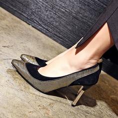 Женщины Замша Высокий тонкий каблук На каблуках Закрытый мыс с Другие обувь (085153086)