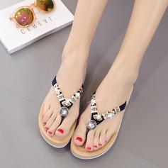 Женщины Замша Вид каблука Сандалии Тапочки с горный хрусталь обувь (087131710)