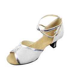 Mulheres Couro Sandálias Latino Sapatos de dança (053143456)