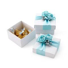 Schön Quader Geschenkboxen mit Blumen/Bänder (Satz von 12) (050013928)