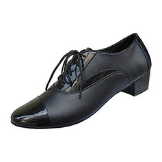 Men's Real Leather Heels Latin Ballroom Practice Dance Shoes (053012955)