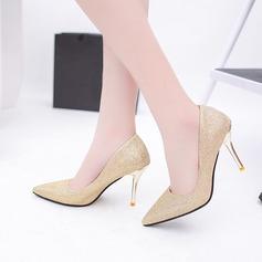 Женщины кожа Высокий тонкий каблук На каблуках (047108597)
