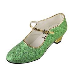Детская обувь кожа На каблуках Бальные танцы с пряжка Обувь для танцев (053068789)
