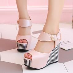 Femmes PU Talon compensé Sandales Plateforme Compensée À bout ouvert Escarpins avec Autres chaussures (087127460)