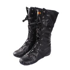 Женщины кожа Ботинки Джаз Танцевальные Сапоги Обувь для танцев (053076372)