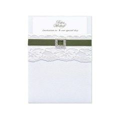 Stile classico Wrap & Pocket Invitation Cards (Set di 10) (118040277)