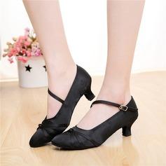 Женщины Атлас На каблуках Бальные танцы с пряжка Обувь для танцев (053108017)