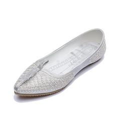 Kunstleder Flascher Absatz Flache Schuhe Geschlossene Zehe Schuhe (086056684)